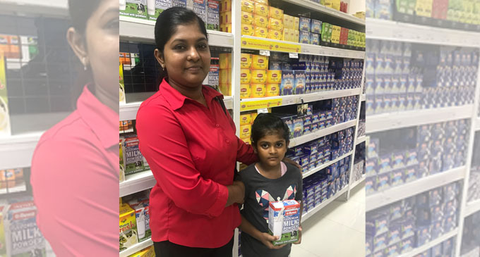 Shalin Reddy (left) and her daughter Tannish Singh shopping at Charan Jeath Singh (CJS) supermarket in Nabua, Suva on April 6, 2018. Photos: Nacanieli Tuilevuka