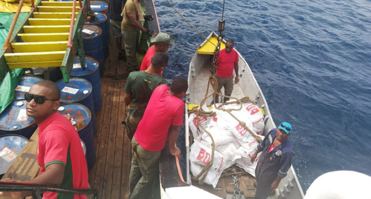 Soldiers Distribute Food Rations For Kadavu