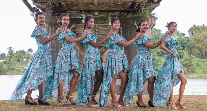 The 2018 Vodafone Tebara Carnival contestants vying for the crown (from left) Sereima Vautoni, Natasha Nikita Lal, Neha Namrata Sharma, Laisani Silaitoga Ravoka, Kavita Mishra, and Mereani Kotocakau. Photo: Ravneel Maharaj