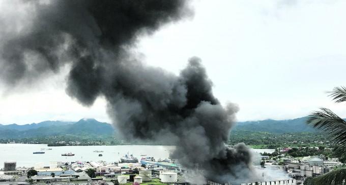 Worker in Hospital After Big Walu Bay Blaze