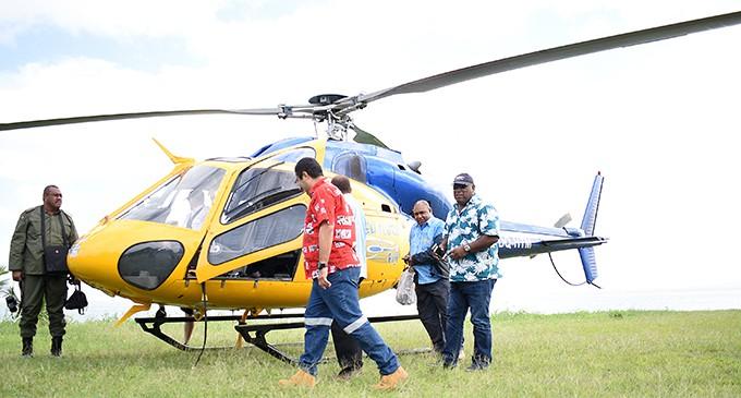 Government Team Checks TC Keni Damage