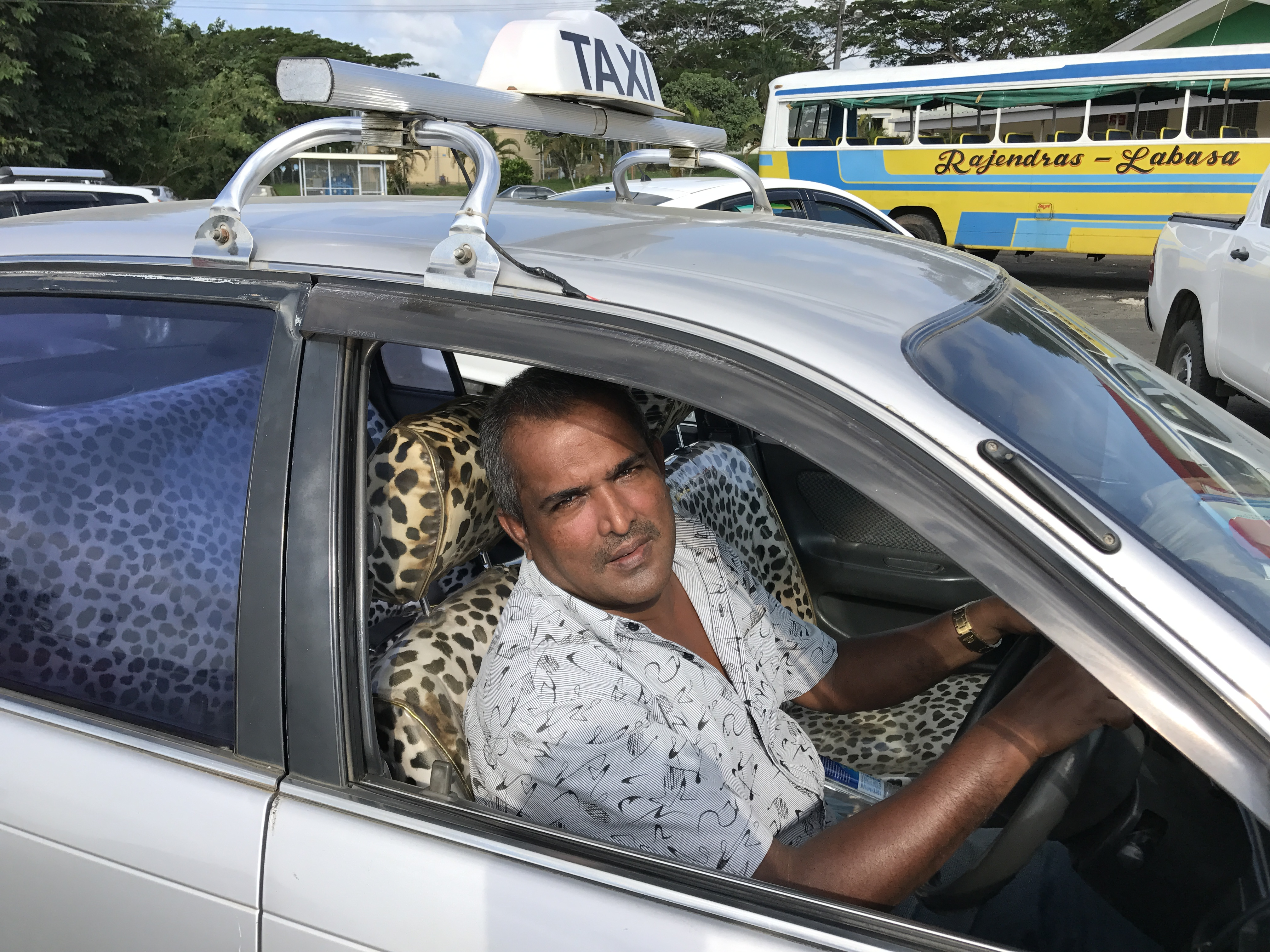 Mahen Pratap a taxi driver based at Labasa Hospital who saw the alleged abductor and assisted Police in their search on April 16, 2018. Photo: Shratika Naidu