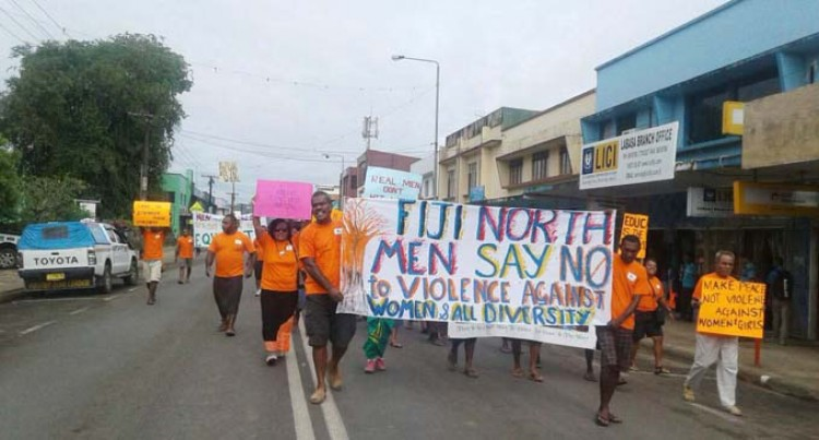 Men Join Anti-Violence March