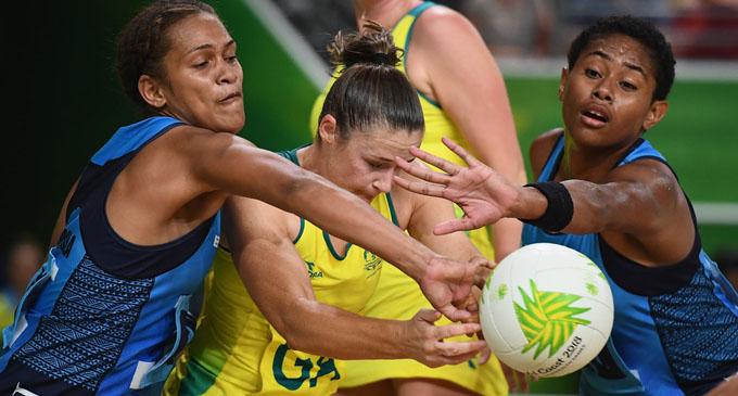 Team Fiji netball reps defend against Australia in Gold Coast on April 9, 2018.  Fiji lost 23-108.  Photo: Zimbio