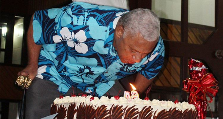 Bainimarama gets surprise birthday visit