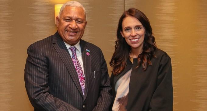 Fiji, NZ PMs Meet In London