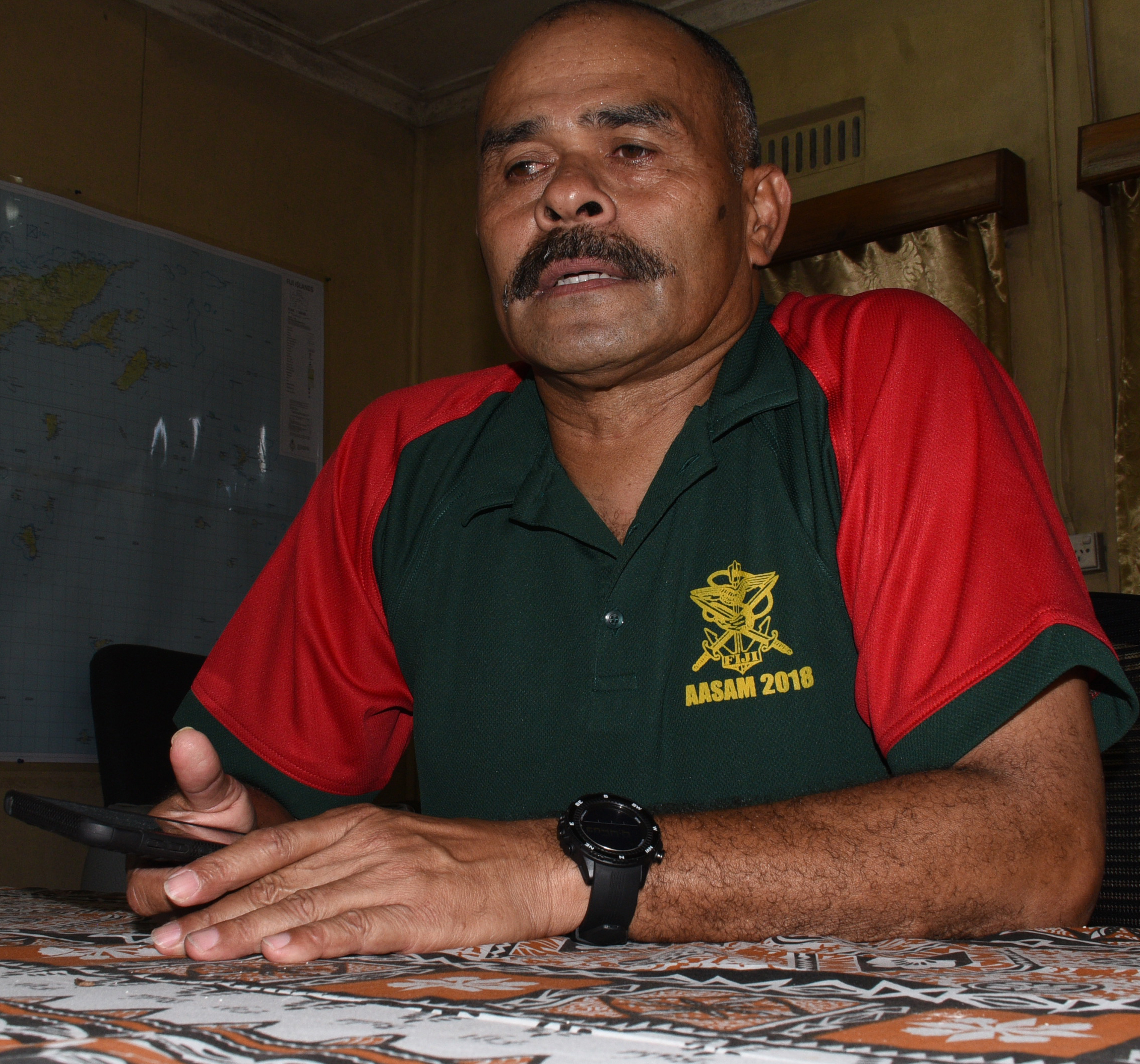 Major Henry Makaba of RFMF will be leadeing our 10 member team to Aasam 2018 competition. Photo: Ronald Kumar.