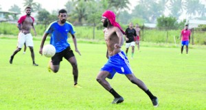 Rewa football training at Manoca grounds on April 24,2018. Photo: Ronald Kumar
