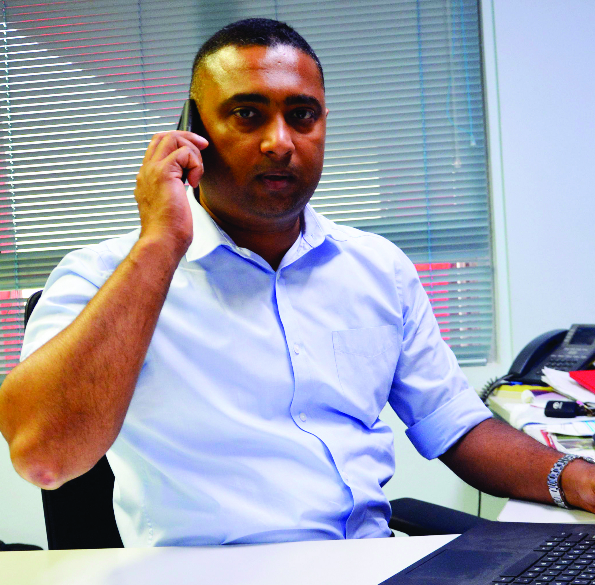 Vodafone Fiji's chief operating officer Ronald Prasad