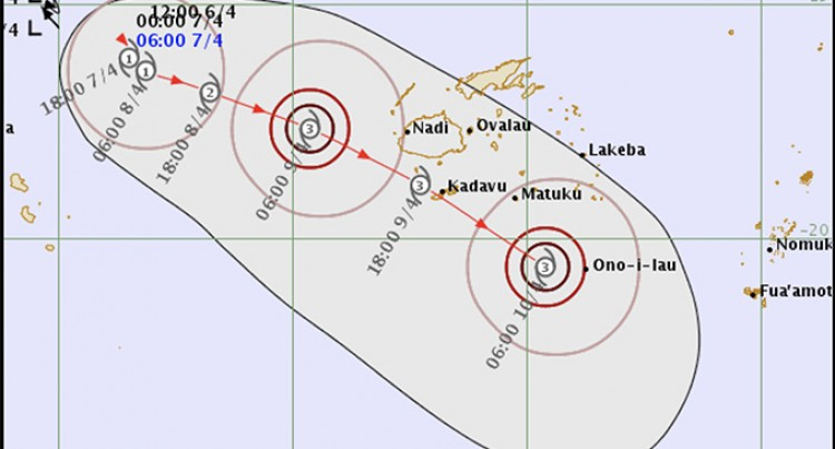 Storm Direct Threat To Fiji