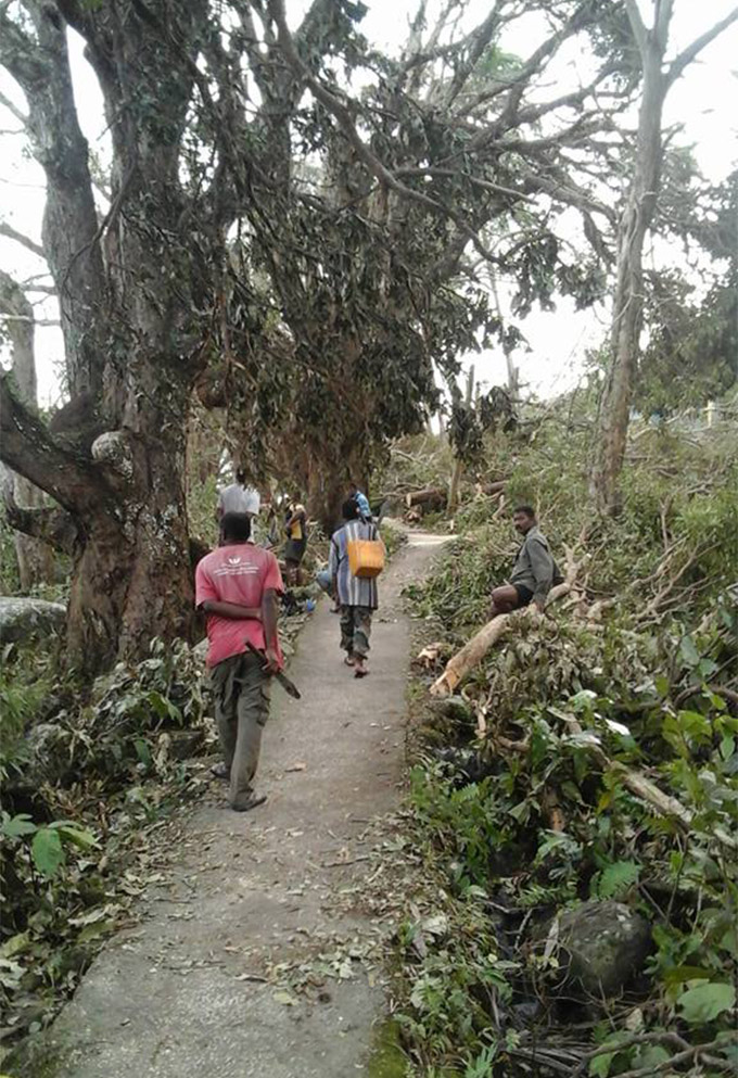 A massive clean-up at Tawava Village, Yawe, Kadavu, after TC Keni.   Photo: Malakai Masi