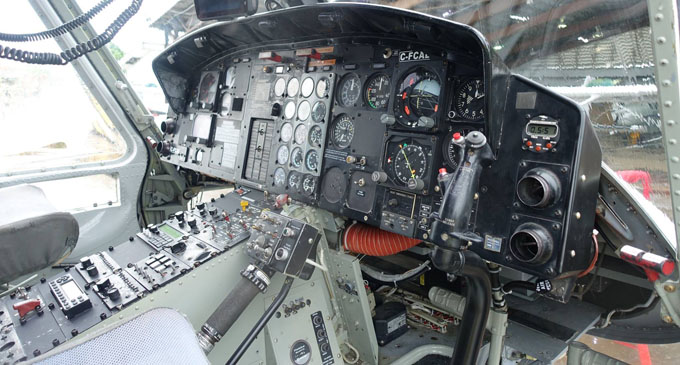 A look inside the helicopter's cockpit. Photo: Jason Vargas