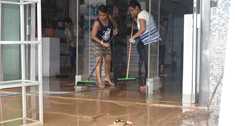 Soldiers Clean-Up In Flood-Hit Ba, Nadi