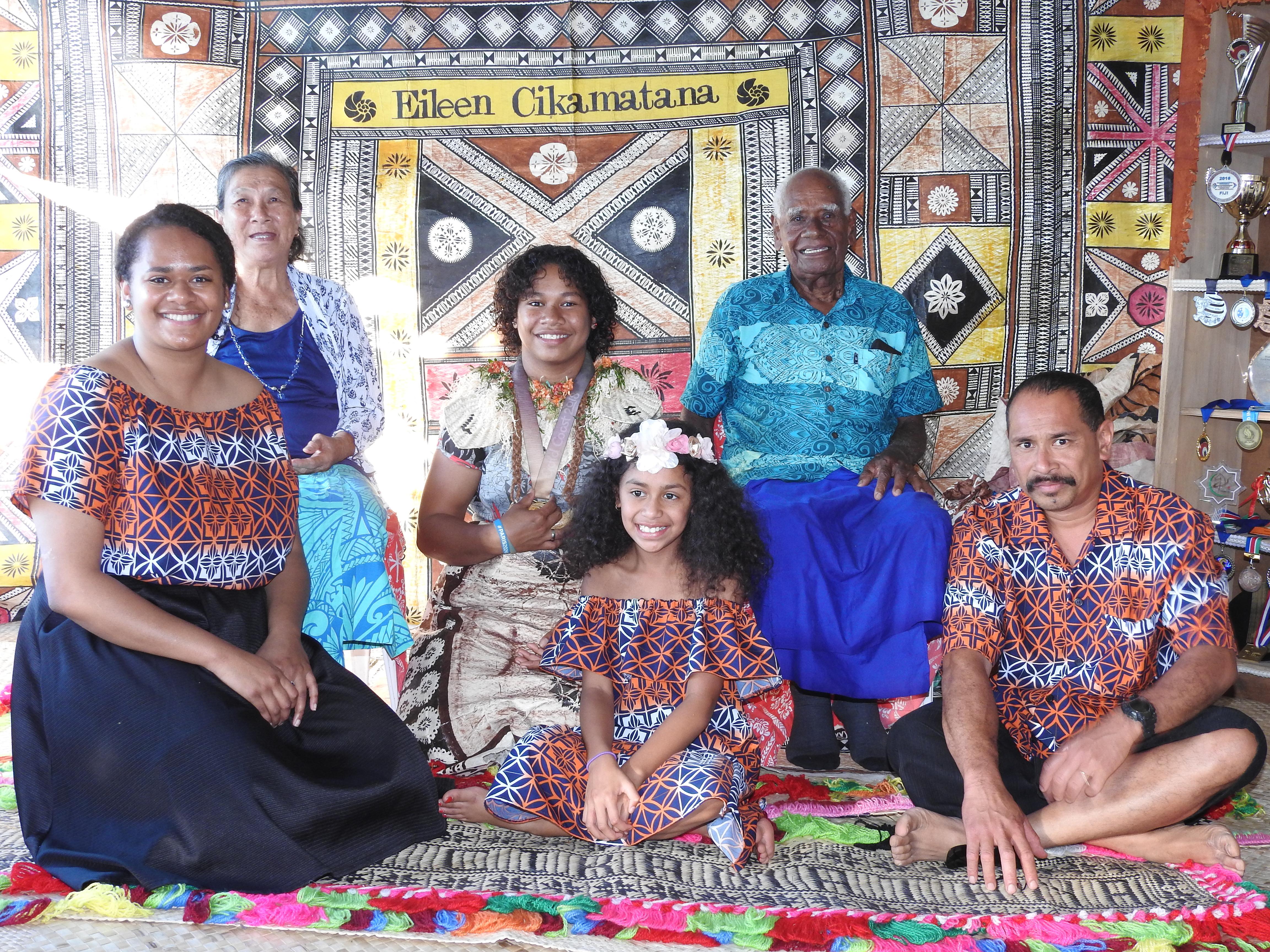 Eileen Cikamatana's family came from New Zealand to attend the celebration in Taviya Village, Ovalau on April 28, 2018. Photo: Manhar Lal