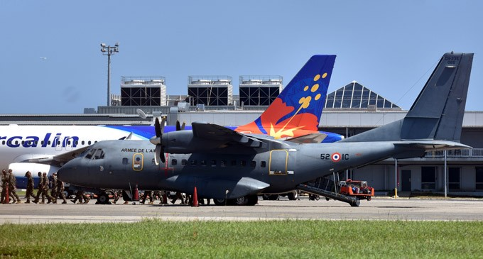 French Air Force Flight Stops In Nadi