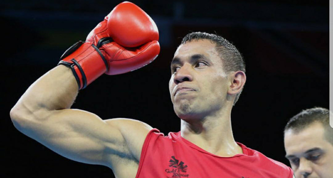 Fiji welterweight boxer Winston Hill to take on Stephen Newns of Scotland in today's quarterfinal clash of the  Commonwealth Games in Gold Coast, Australia. Photo: Napoleon Taumoepeau.