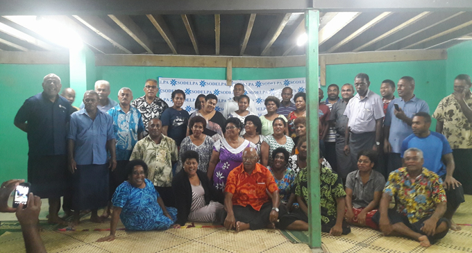SODELPA pocket political meeting in a Suva suburb earlier this week.