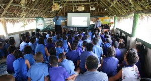 Motusa District School students and teachers during the Parliament outreach programme on the island of Rotuma. Photo: Parliament of Fiji