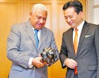 Pm Bainimarama, Governor Of Saga Prefecture Talk Rugby