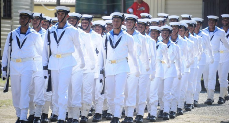 Basic Training Begins For New Navy Recruits