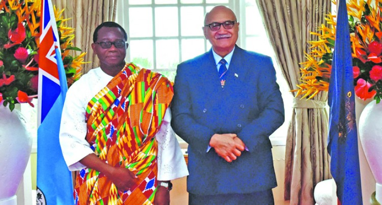 Ghana Envoy Presents Credentials To President