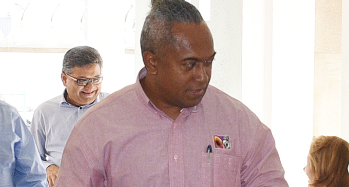 The Fiji Times Editor-in-Chief Fred Wesley outside the High Court on May 4, 2018.  Photo: Ronald Kumar.