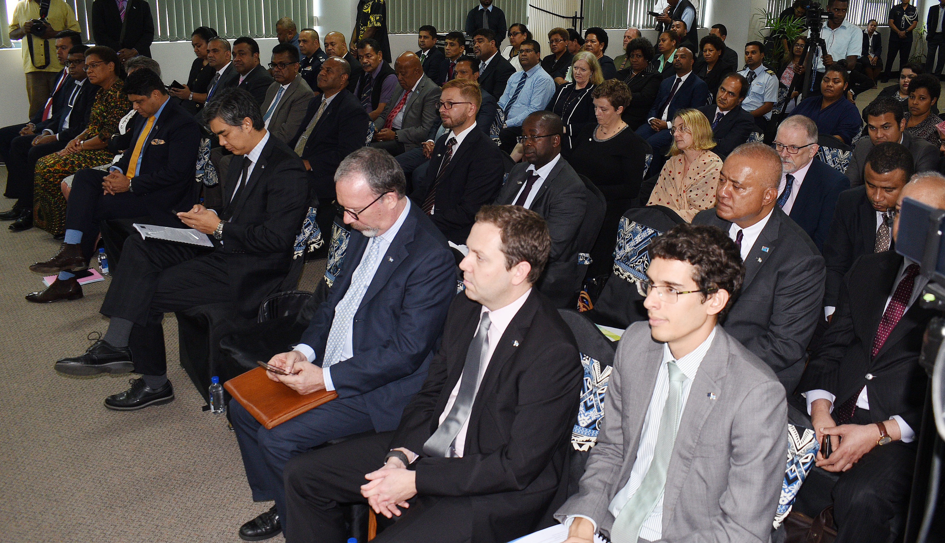 Participants at the third European Union high level Political Dialogue Forum at Suvavou House in Suva on May 23, 2018. Photo: Ronald Kumar