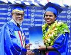 Graduate Thanks Lawyer Husband