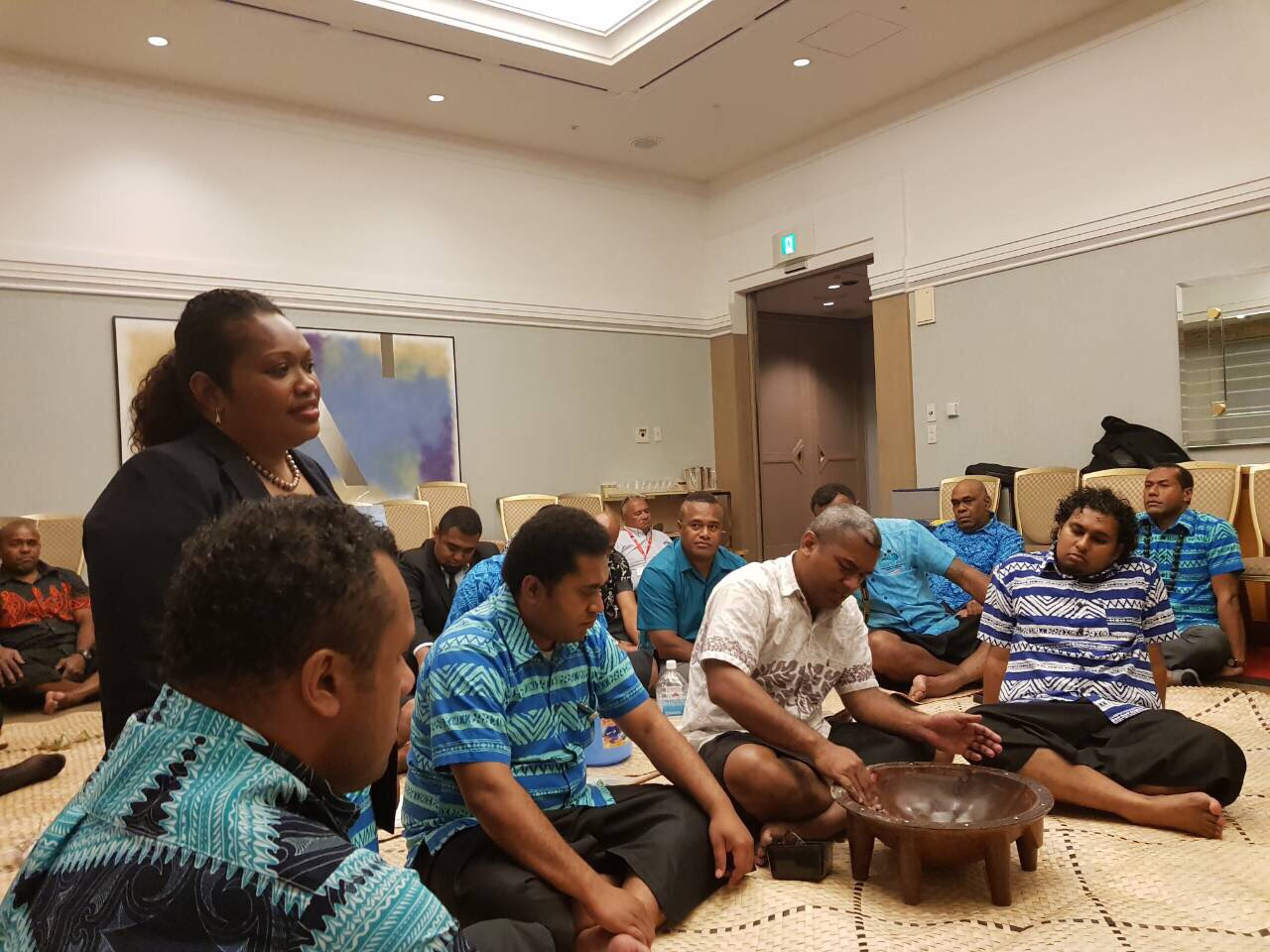 Members of the Fijian delegation and Fijian residents in Tokyo, Japan, on May 19, 2018. Photo: DEPTFO News