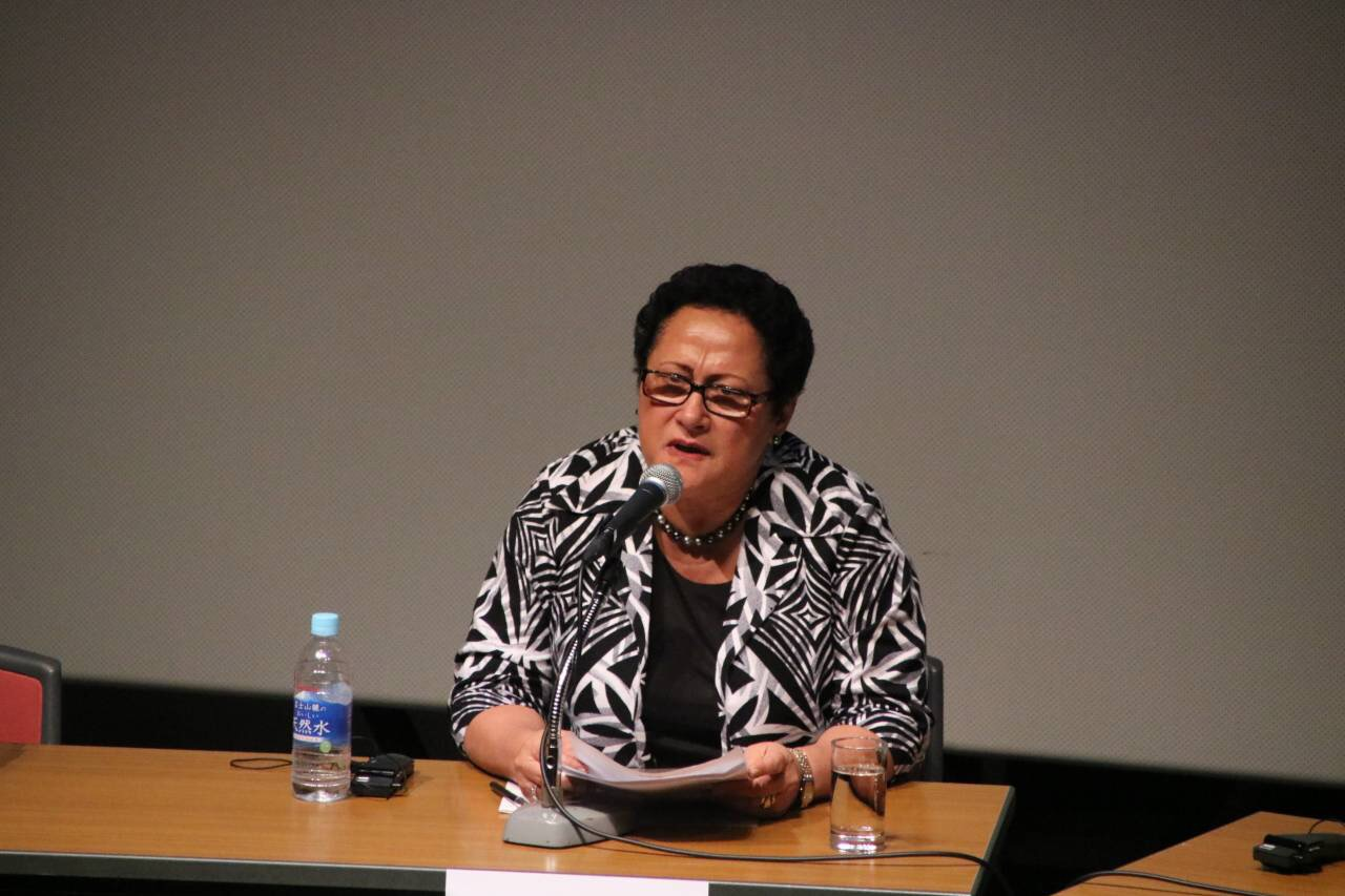 Mary Bainimarama speaking at the Ocean for the Future Symposium in Iwaki, Japan. Photo: DEPTFO News