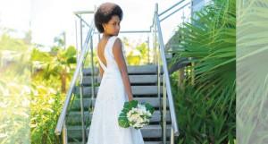 Samson Lee bridal dress worn by a model Serenia Raura