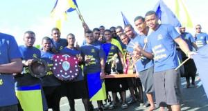 Ratu Kadavulevu School athletes with their silverware in Lodoni on May 19,2018. Photo: Karalaini Tavi