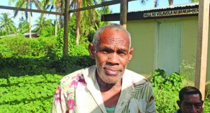 Mataiasi Mataliwa (left), 67, waiting for his turn to be registered at the Bureta Community Hall on May 23, 2018. Photo: Rusiate Mataika
