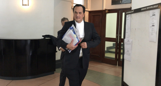 Fiji Times company lawyer Wylie Clarke outside the High Court in Suva on May 1, 2018. Photo: Fonua Talei
