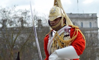 Fijian Guard On Royal Duty