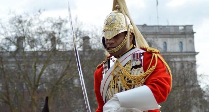 Fijian Guard On Royal Duty