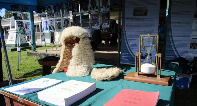 Parliament display on Rotuma Day. Photo: Parliament of Fiji