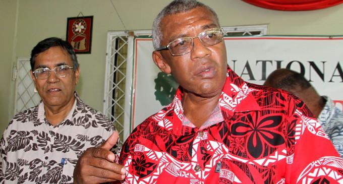 NFP president Pio Tikoduadua.(closest to the camera)