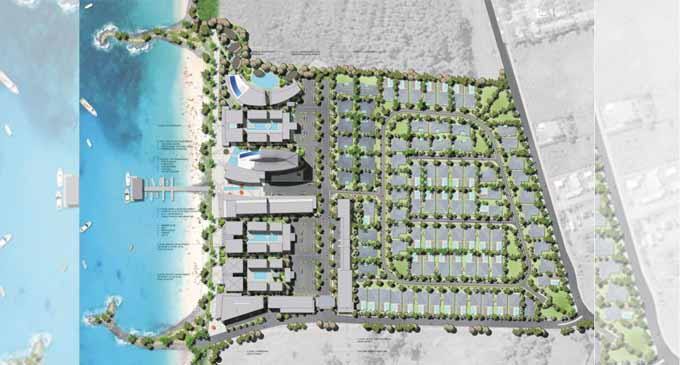 An artist's impression of an aerial view of the Palm Beach Estate