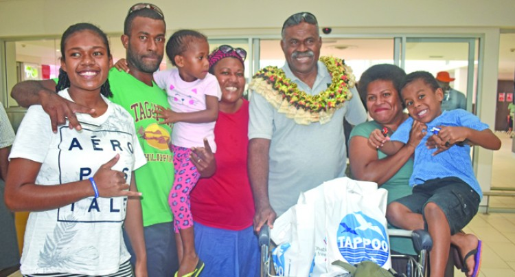 Village, Children Treat Dad To Big Homecoming Party