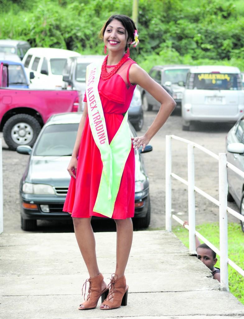 2018 Vodafone Tebara Carnival Queen Contestant Miss Aldex Trading Kavita Mishra at Nausori Town on May 12, 2018. Photo: Ronald Kumar.