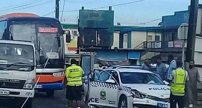 Police Vehicle, Private Car Crash Investigation Underway