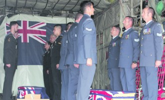 Remains Of New Zealand Airmen Head Home