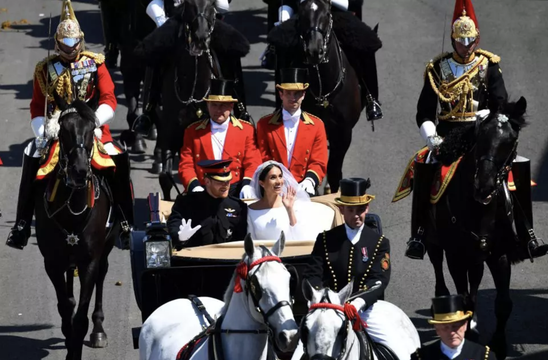 Peni Qio was part of the royal procession after the wedding.