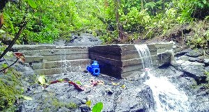 The newly constructed water dam at Natadradave Village. Photo: Water Authority of Fiji