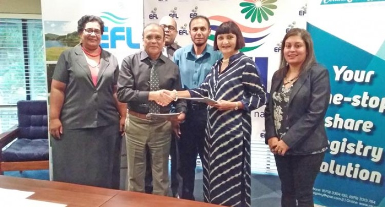 Energy Fiji  Limited (EFL) Signs Up With Central Share Registry  Limited (CSRL) For EFL Shareholders