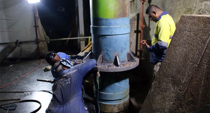 Water Authority of Fiji workers doing repair works. Photo: Water Authority of Fiji