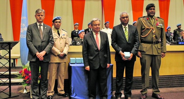 Fijian Peacekeeper Receives Posthumous Medal from UN