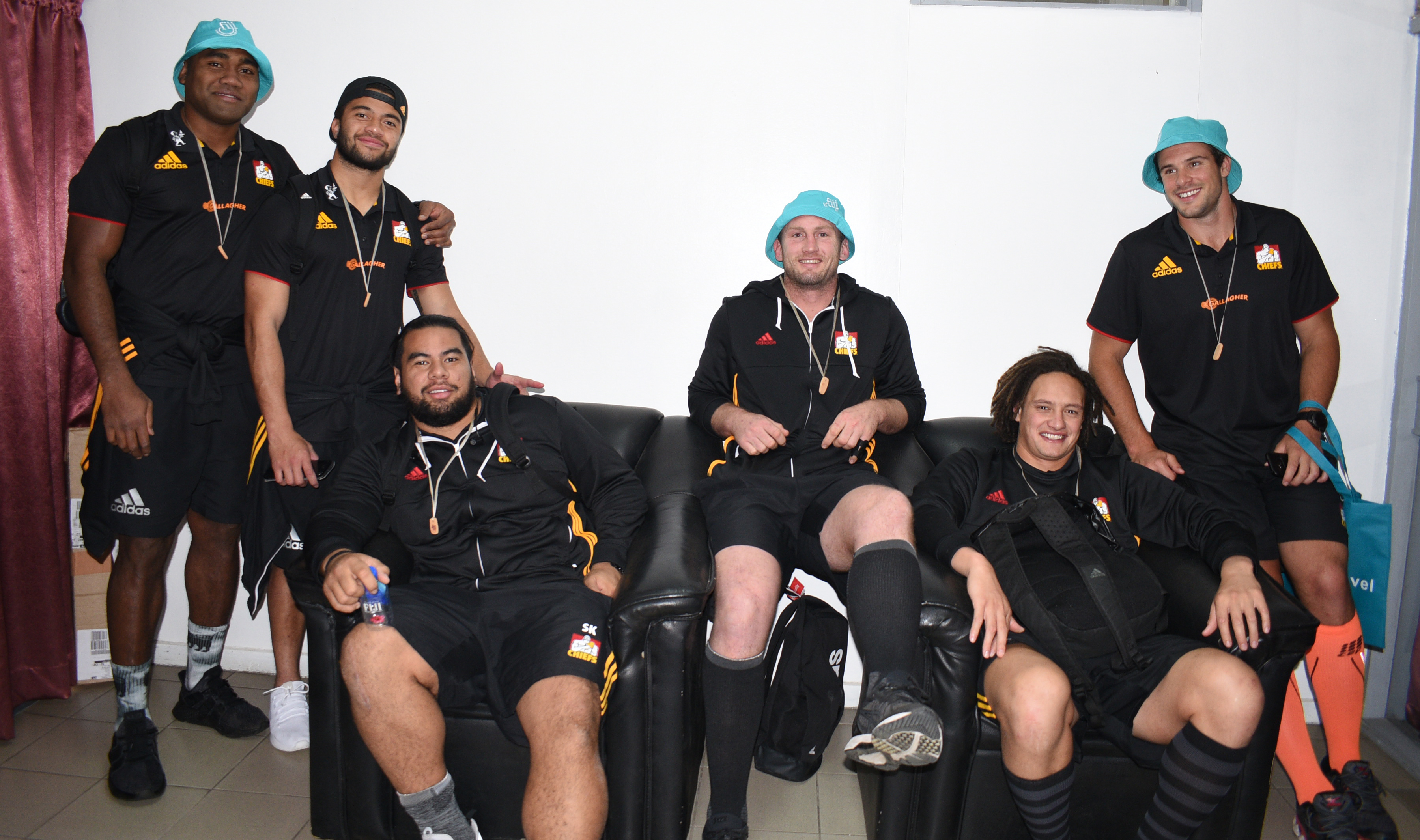 Chiefs rugby players at Nausori International Airport upon arrival on June 27, 2018. Photo: Ronald Kumar.