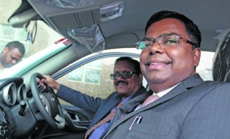 Commission receives vehicle from Indian Government